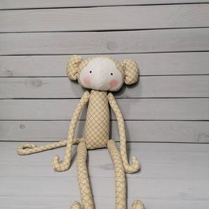 Tilda majom, Gyerek & játék, Dekoráció, Otthon & lakás, Játék, Plüssállat, rongyjáték, Baba-és bábkészítés, Varrás, Különleges, részletesen kidolgozott, kézzel készült egyedi termék.\n\nTilda és vintage stílusú.\n\nTökél..., Meska