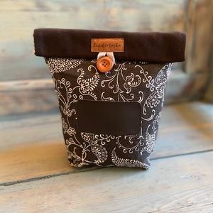 Feliratozható uzsonnás táska,  PUL béléssel (élelmiszerbiztos), Shopper, textiltáska, szatyor, Bevásárlás & Shopper táska, Táska & Tok, Varrás, UZSONNÁS TÁSKA feliratozható kréta filc textillel: \nHagyj minden nap egy kedves üzenetet! <3\nA külső..., Meska