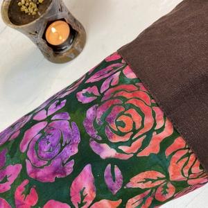 Jóga-fitnesz matrac táska, kezműves batikolt textillel, csak természetes anyagokból - táska & tok - biciklis & sporttáska - jógatáska - Meska.hu