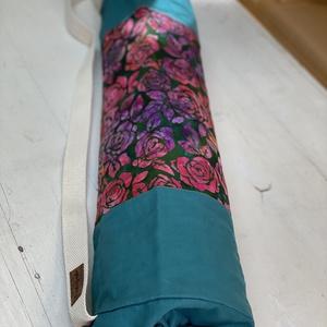 Jóga-fitnesz matrac táska, kezműves batikolt textillel, csak természetes anyagokból (Tundertaska) - Meska.hu