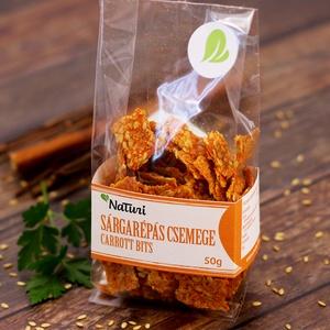 """NaTuri sárgarépás csemege, Kulinária (élelmiszer), Kíméletes aszalással készülő sárgarépából, lenmagból, hagymából, fűszerekből készülő sós """"chips"""". Gl..., Meska"""