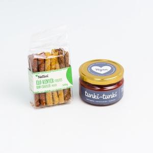 tunki egészség csomag - mini, Kulinária (élelmiszer), Már régóta terveztünk egy olyan csomagot, amiben a tunkik párosulnak egészséges mártogatni valókkal,..., Meska