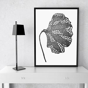 Pipacs- Kézzel készült linó metszet nyomat- Minimalista poszter, Otthon & lakás, Dekoráció, Kép, Lakberendezés, Falikép, Fotó, grafika, rajz, illusztráció, Mindenmás, A művészi nyomat 180-200g-os művész papírra készül.\nAz eredeti metszet és nyomat kézzel készített, á..., Meska