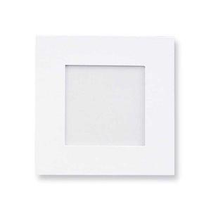 Díszíthető karton képkeret, Díszíthető tárgyak, Nagyon stabil, fehér kartonkeret, a hátoldalon támasztóval. Képméret: kb. 10 x 10 cm, Méret: kb. 16,..., Meska
