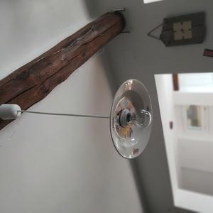 Vintage lámpa, Fali & Mennyezeti lámpa, Lámpa, Otthon & Lakás, Újrahasznosított alapanyagból készült termékek, Kerámia, \nEgyszerűség, népi motívumok- vintage lámpa!\nDíszítse otthonodat, teraszodat, pincédet, újrahasznosí..., Meska