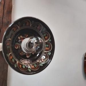 Vintage lámpa, Fali & Mennyezeti lámpa, Lámpa, Otthon & Lakás, Újrahasznosított alapanyagból készült termékek, Egyszerűség, népi motívumok- vintage lámpa!\nDíszítse otthonodat, teraszodat, pincédet, újrahasznosít..., Meska