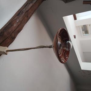 Vintage lámpa, Otthon & Lakás, Fali & Mennyezeti lámpa, Lámpa, Egyszerűség, népi motívumok- vintage lámpa! Díszítse otthonodat, teraszodat, pincédet, újrahasznosít..., Meska