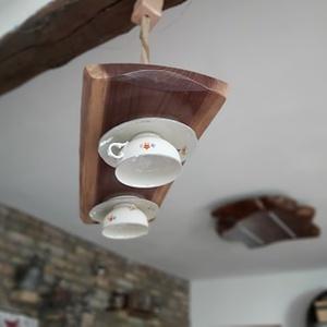 Vintage lámpa, Otthon & Lakás, Lámpa, Fali & Mennyezeti lámpa, Famegmunkálás, Egyedi, vintage lámpa, a régi stílus kedvelőinek! Teás csészéből készítettünk lámpát!\n, Meska