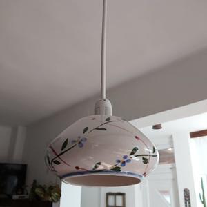 Vintage lámpa, Otthon & Lakás, Lámpa, Fali & Mennyezeti lámpa, Újrahasznosított alapanyagból készült termékek, Csészékből készítünk lámpát az újrahasznosítás jegyében., Meska