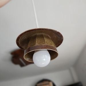 Vintage lámpa, Otthon & Lakás, Lámpa, Fali & Mennyezeti lámpa, Újrahasznosított alapanyagból készült termékek, Régi csészékből készítünk fali lámpát., Meska