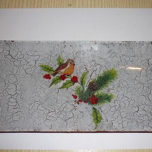 Karácsonyi üvegtál (tuzcica) - Meska.hu