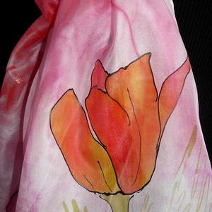 Rózsaszín álom, Táska, Divat & Szépség, Sál, sapka, kesztyű, Ruha, divat, Kendő, Selyemfestés, Elvarázsol, magával ragad, télen melegít, nyáron hűsít.\nPongé5 hernyóselyemből készítettem ezt a cso..., Meska
