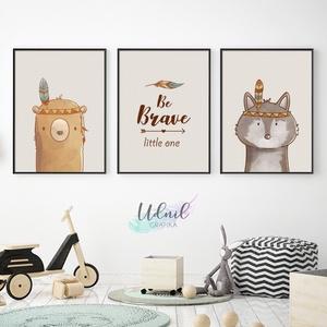 3 darabos állatos poszter - gyerekszoba falikép, dekoráció, Gyerek & játék, Gyerekszoba, Baba falikép, Dekoráció, Otthon & lakás, Fotó, grafika, rajz, illusztráció, 3 db A4 méretű állatos grafika 250 g-os kreatív papírra nyomtatva. keret nélkül.\nAz ár a 3 darab pos..., Meska