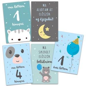 Baba fotó kártya rókás - mérföldkő, hónapkártya , Képeslap & Levélpapír, Papír írószer, Otthon & Lakás, Fotó, grafika, rajz, illusztráció, A baba kártyák - milestone kártyák a gyermek fotózásakor használhatók, hogy az évek múltával könnyeb..., Meska