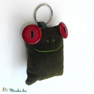 Bársony Breki - zöld béka kulcstartó - Meska.hu