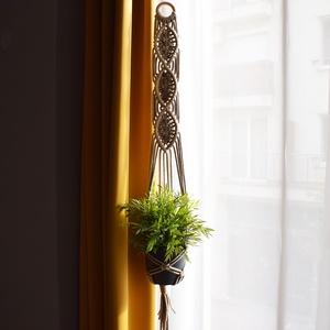 Makramé virágtartó - választható színben, Otthon & Lakás, Dekoráció, Virágtartó, Csomózás, Meska