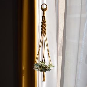 Makramé virágtartó / gyertyatartó - választható színben, Otthon & Lakás, Dekoráció, Virágtartó, Csomózás, Meska
