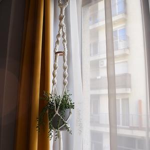 Makramé virágtartó - választható színben - Meska.hu