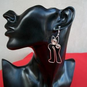Macska fülbevaló, Ékszer, Lógó fülbevaló, Fülbevaló, Ékszerkészítés, Fémmegmunkálás, Meska