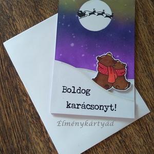KARÁCSONYI MACKÓK ÉLMÉNYKÁRTYA, Christmas Bears, Karácsonyi képeslap, Karácsony & Mikulás, Otthon & Lakás, Papírművészet, ***KARÁCSONYI MACKÓK ÉLMÉNYKÁRTYA***, Christmas Bears, Karácsonyi Élménykártya\n\n--------------------..., Meska