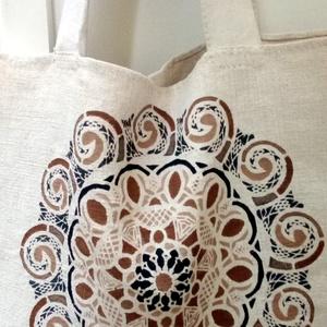 Mandala vászon táska, Táska, Divat & Szépség, Táska, Festészet, Szövés, Mandala motívum energiával feltöltött házi szöttes vászon.\nKézzel készített : festett.ill.vart termé..., Meska