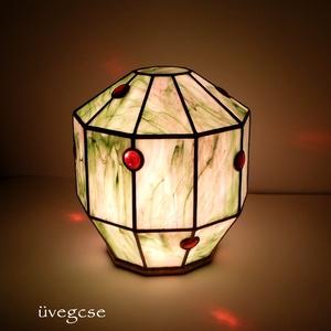 egyedi tiffany lámpa - világítótest, Lakberendezés, Otthon & lakás, Lámpa, Dekoráció, Hangulatlámpa, Üvegművészet, saját technikai fejlesztéssel kivitelezett zárt üveg világítótest.. igazi üvegcse különlegesség, íny..., Meska