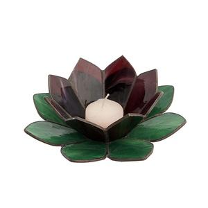 Vizililiom mécsestartó, Gyertya & Gyertyatartó, Dekoráció, Otthon & Lakás, Üvegművészet, Vízililiom mécsestartó\n\nMérete: 22 cm átmérő \n\nKét szín: levél és virág, mely színét a megrendelő vá..., Meska