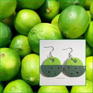 Lime  -  fülbevaló ékszergyurmából (uveggyongyjatek) - Meska.hu