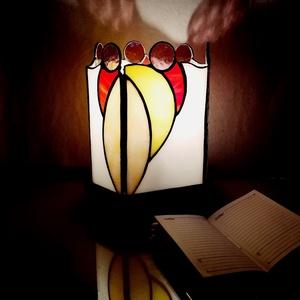 Nyári fények - Tiffany lámpa , Otthon & lakás, Dekoráció, Lakberendezés, Lámpa, Asztali lámpa, Hangulatlámpa, Dísz, Üvegművészet, A nyár jellemző színeit harmonikusan ötvöző Tiffany lámpa, igazi kis ékszere lehet otthonunknak, iro..., Meska