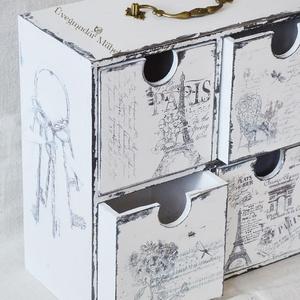 Asztali fiókos komód (uvegmadar) - Meska.hu