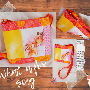 Róka mama - oldaltáska, Táska & Tok, Variálható táska, Varrás, Egy rókás textilblokkot varrtam körbe,színben harmonizáló textilekkel oldaltáskává.\nZipzárral záródó..., Meska