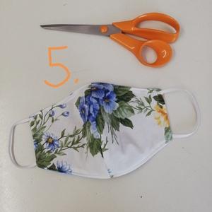 Virágos maszk, Női, Maszk, Arcmaszk, Varrás, Keszítettem  három rétegű maszkokat. Több mennyiségben is  tudom elkészíteni. \nMosható, vasalható. \n..., Meska