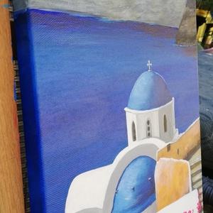 Santorini - festmény - művészet - festmény - akril - Meska.hu