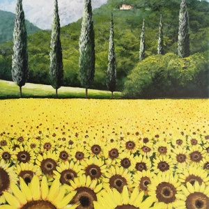 Sárga Toszkána , Akril, Festmény, Művészet, Festészet, Akril festmény feszített vásznon, mérete: 60 x 40 cm.\n2020.06.\nSzignózva és eredetigazolással.\n\nKere..., Meska