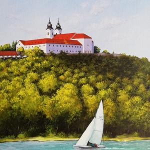 Balatoni vitorlás, Művészet, Festmény, Akril, Festészet, Meska