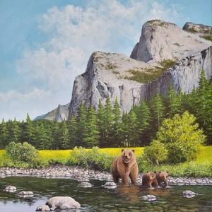 Yosemite - festmény - Meska.hu