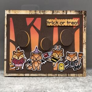 Halloween kézzel készített interaktív képeslap, Művészet, Grafika & Illusztráció, Papírművészet, Interaktív kézzel készített Halloween támájú képeslap, minőségi alapanyagokból. A képeslapot kézzel ..., Meska
