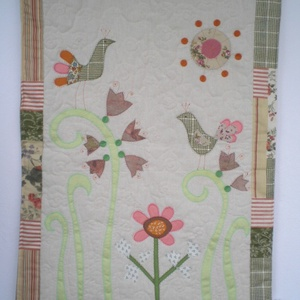 Virágoskert - textil falikép (vancsavarr) - Meska.hu