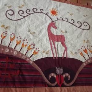 Falikép  szarvasokkal, tulipánokkal  (vancsavarr) - Meska.hu