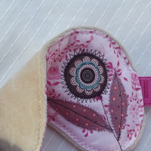 Rózsaszín, virágos alvómaszk (szemmaszk) (vancsavarr) - Meska.hu