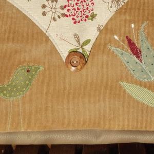 Tulipános-madaras táska (drapp) (vancsavarr) - Meska.hu