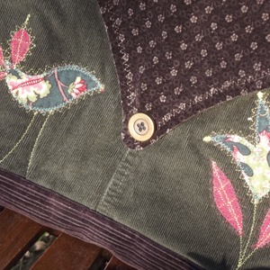 Tulipános-madaras táska (zöld) (vancsavarr) - Meska.hu