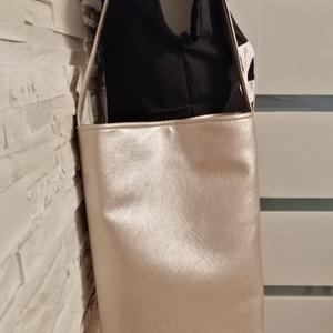 Pezsgő szinű táska, Táska & Tok, Válltáska, Kézitáska & válltáska, Varrás, Meska