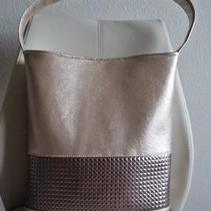 Arany színű  táska, Táska & Tok, Vállon átvethető táska, Kézitáska & válltáska, Varrás, Meska