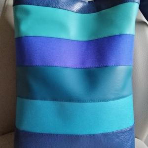 Kék csíkos táska , Táska & Tok, Válltáska, Kézitáska & válltáska, Varrás, Meska