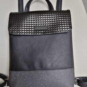 Hátizsák , Táska, Divat & Szépség, Táska, Hátizsák, Varrás, Kiváló minőségű Textilbőrböl készült női hátizsák ami kézben is hordható. 32x36cm mágnes patentos zá..., Meska