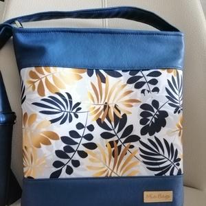 Levél mintás táska , Táska & Tok, Kézitáska & válltáska, Vállon átvethető táska, Varrás, Meska