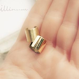 mininál - sárgaréz fülgyűrű (vanillinum) - Meska.hu