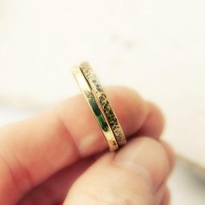 sárgaréz duó - vörösréz gyűrű (vanillinum) - Meska.hu