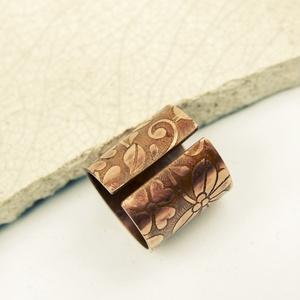 folk  - maratott vörösréz gyűrű (vanillinum) - Meska.hu
